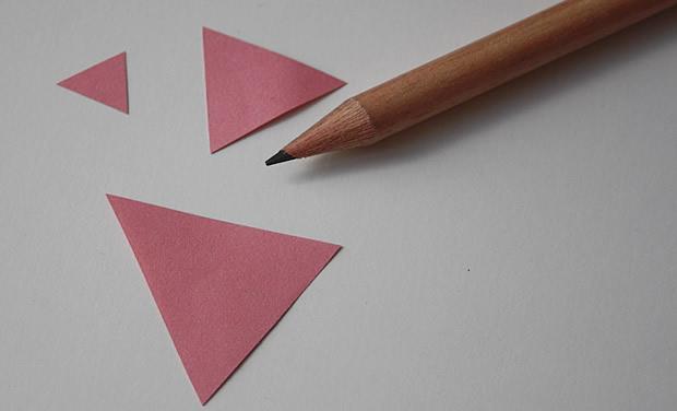 tutoBO4 Tuto   Des boucles doreilles triangles aux couleurs toutes douces