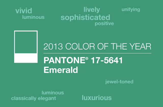 Sélection déco – Vert émeraude, couleur de l'année 2013 par Pantone