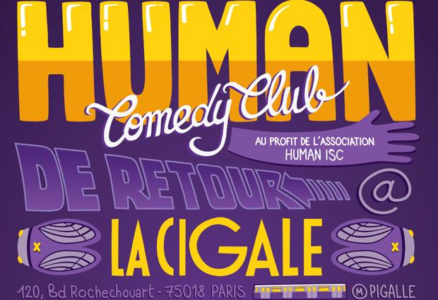 Retrouvez le Human Comedy Club le 12 février à la Cigale human