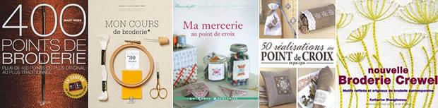 Broderie & point de croix : tutos, idées et livres livresbrederie