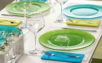 Sélection de vaisselle colorée