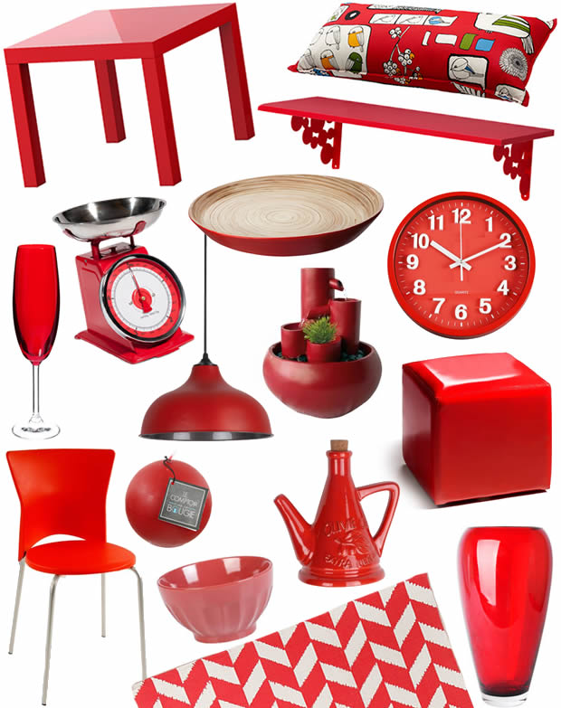 Accessoire deco cuisine rouge for Accessoire deco cuisine