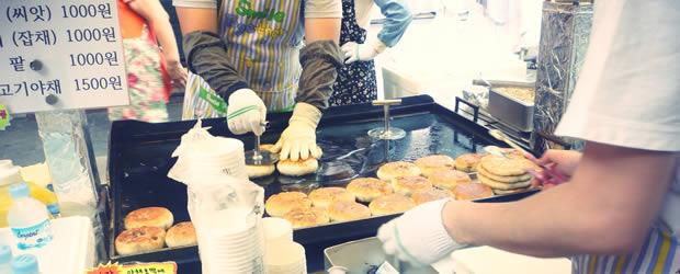 La street food mania   Carte postale de Corée du Sud streetfood1