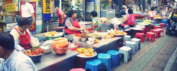 La street food mania   Carte postale de Corée du Sud streetfood2