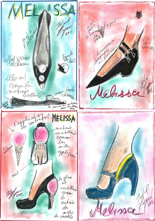 KL Melissa Karl Lagerfeld crée 4 paires de chaussures pour Melissa