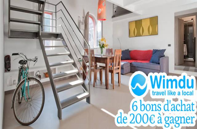 Concours Wimdu : 6 bons d'achat de 200€ à gagner !