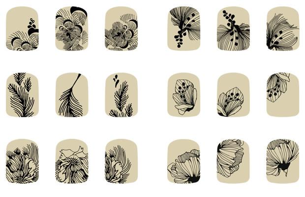 Corpus d lit sort les tatouages pour ongles Idee dessin sur ongle