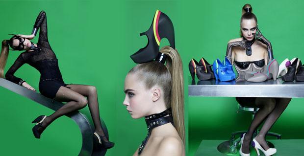 melissa cara Karl Lagerfeld crée 4 paires de chaussures pour Melissa