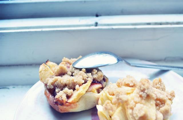 Tartelette pomme-crumble – Recette