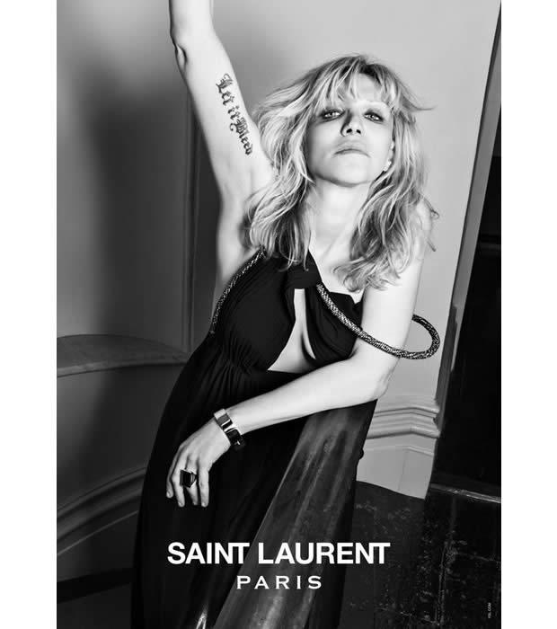 Courtney Love est la seconde égérie Saint Laurent