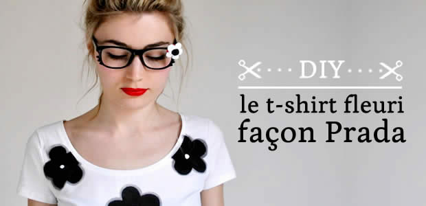 DIY : le t-shirt fleuri façon Prada