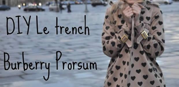 DIY : le trench façon Burberry Prorsum