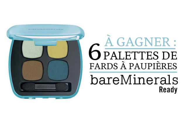 Concours BareMinerals : 6 palettes de fards à paupières à gagner !