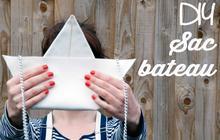 DIY : la pochette «bateau en papier »façon Moschino