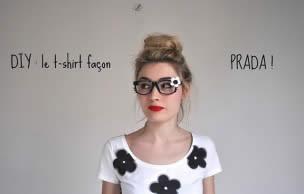Lien permanent vers DIY : le t-shirt fleuri façon Prada