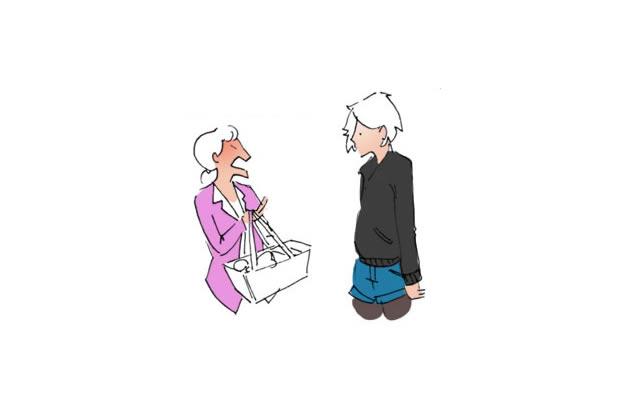 La connasse du Simply – Le dessin de Cy.
