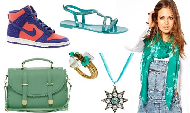 Vert Bleu Asos Asos fait des promos sur les accessoires !
