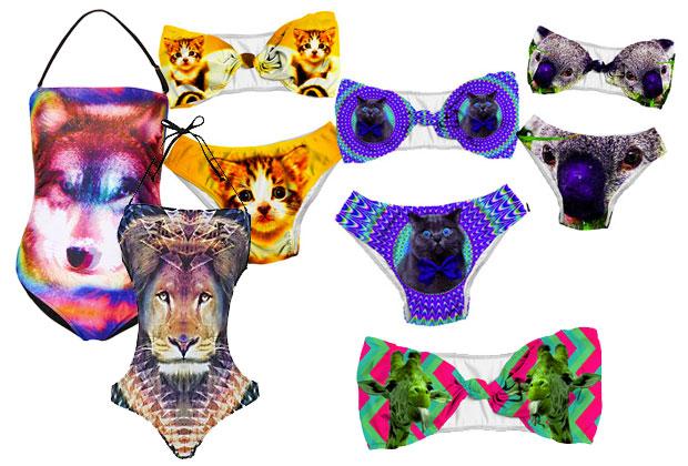 animaux psyche Le maillot de bain imprimé : le hit de lété 2013