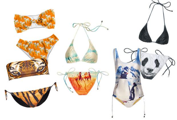 animaux Le maillot de bain imprimé : le hit de lété 2013