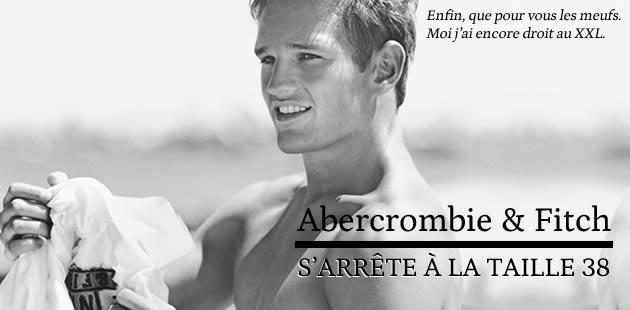 Abercrombie & Fitch s'arrête à la taille 38