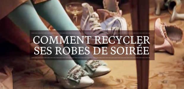Comment recycler ses robes de soirée