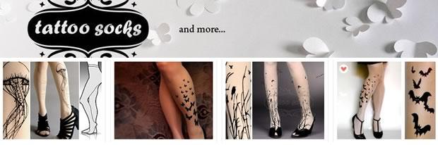 Sélection de boutiques Etsy   Des collants pour ce faux printemps tatoosocks