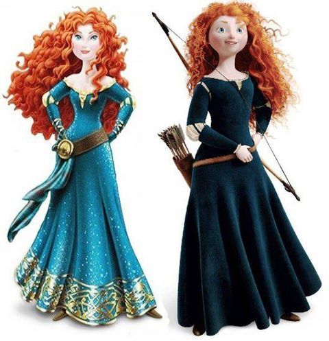 wtfmerida Mérida (Rebelle) relookée en «vraie » Princesse Disney
