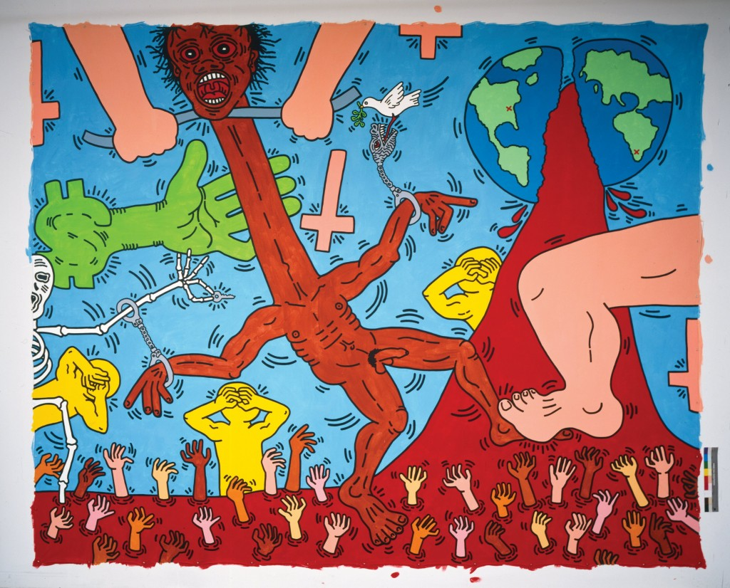 « Keith Haring, the political line » : lexpo à ne pas manquer Michael Stewart USA for Africa 1985 1024x826