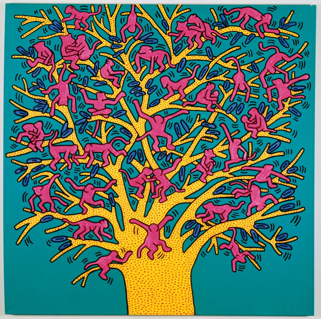 « Keith Haring, the political line » : lexpo à ne pas manquer The Tree of Monkeys 1984 1024x1016