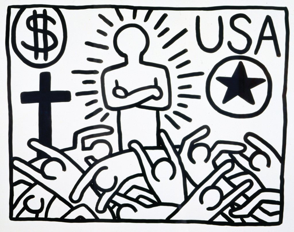 « Keith Haring, the political line » : lexpo à ne pas manquer Untitled 1982 State control 1024x807