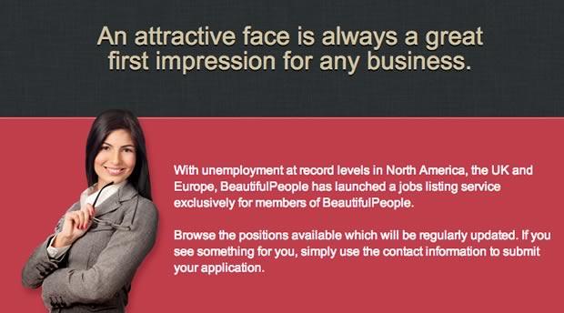 Beautiful People : des jobs réservés aux gens beaux beautiful people