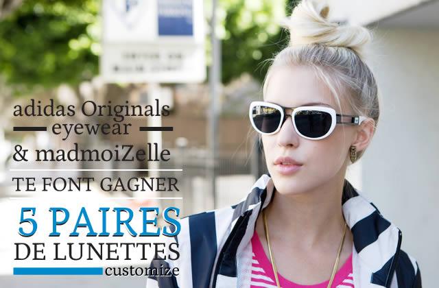 Concours : 5 paires de lunettes de soleil Adidas customisées à gagner !