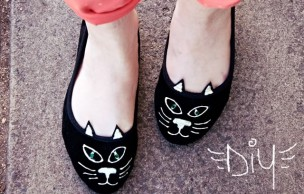 Lien permanent vers DIY : des ballerines chatons façon Charlotte Olympia