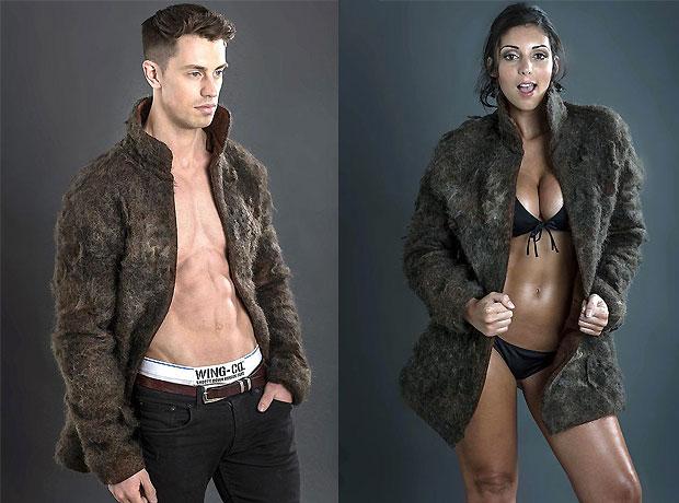 Le manteau en poils humain de Wing Co WTF mode manteau poils