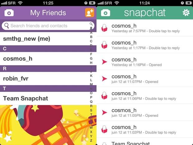 snapchat1 Snapchat, la nouvelle appli de photos éphémères