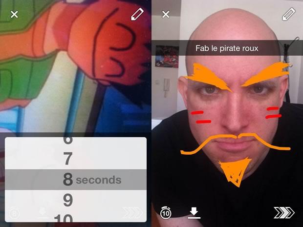 Snapchat, la nouvelle appli de photos éphémères  snapchat2