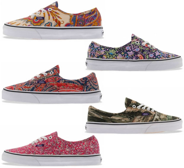 Les collaborations Liberty London de lété 2013 vans
