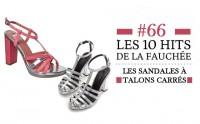 Les 10 hits de la fauchée #66 : la sélection de sandales à talons carrés