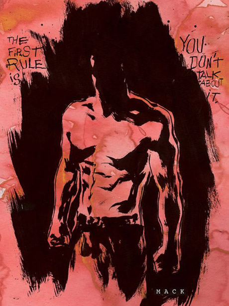 Fight Club : une suite en roman graphique Fight club 2 promotional illustration dark horse comics