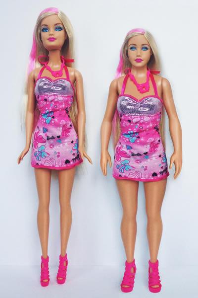 Barbie, canon avec une taille «normale » barbies