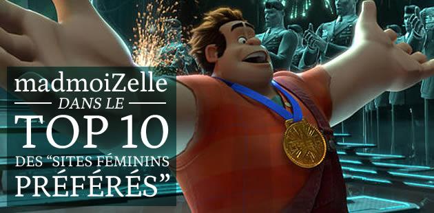 madmoiZelle dans le top 10 des «sites féminins préférés »