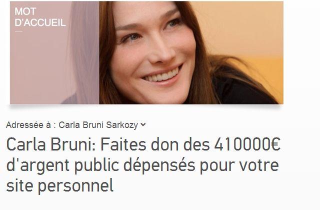 La pétition qui «porte atteinte à l'honneur » de Carla Bruni
