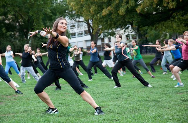 Des cours de gym suédoise en plein air !