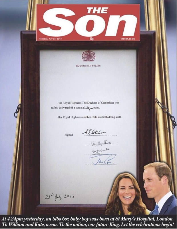 William & Kate : lenfant royal a un prénom ! couverture the son