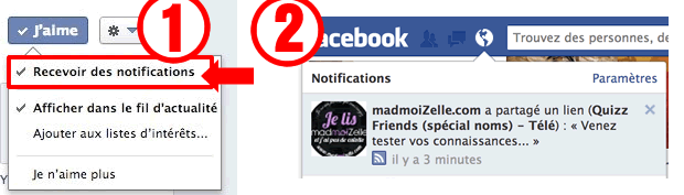 Comment recevoir 100% de nos posts sur Facebook ? notification facebook fanpage