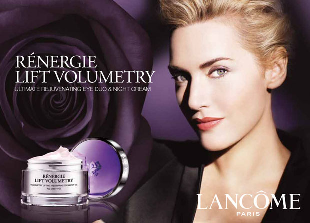 Nivea sanctionnée pour abus de Photoshop Kate Winslet Renergie Lift Volumetry