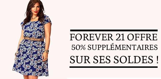 Forever 21 t'offre 50% supplémentaires sur ses soldes