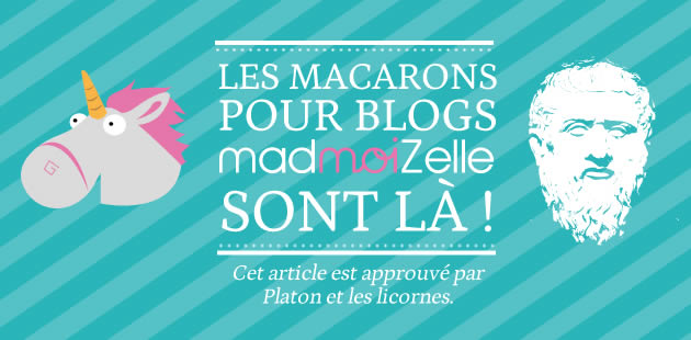 Les macarons pour blogs madmoiZelle sont là !