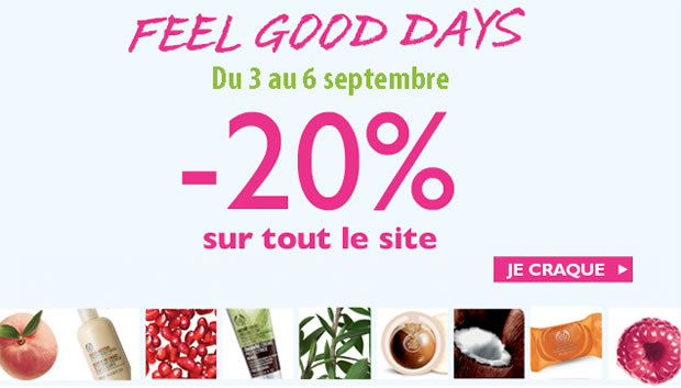 5 bons plans beauté pour préparer la rentrée Feel Good Days The Body Shop