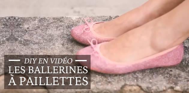 DIY en vidéo — Les ballerines à paillettes